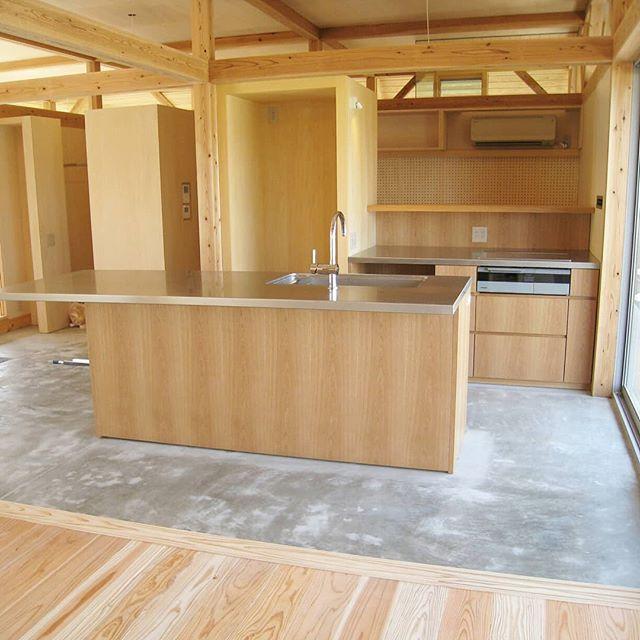 オーダーキッチン 09 土間キッチン